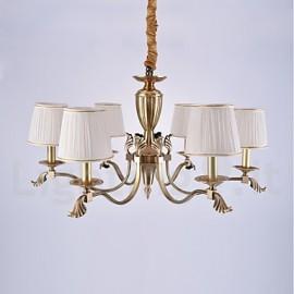 europa sei teste amercian classico lampadario a bracci in rame per ...
