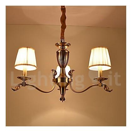 europa tre teste amercian classico lampadario a bracci in rame per ...